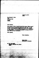 [Letter from N. Dawood (World Council of Churches, Geneva) to R. Hove (Zimbabwe African National Union), August 13, 1973]