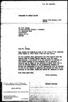 [Letter from B. Sjollema (World Council of Churches, Geneva) to M. M. Chenga (African National Council of Zimbabwe), October 27, 1975]