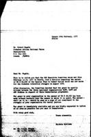 [Letter from B. Sjollema (World Council of Churches, Geneva) to R. Mugabe (Zimbabwe African National Union), February 18, 1977]