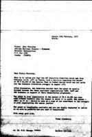 [Letter from B. Sjollema (World Council of Churches, Geneva) to A. T. Muzorewa (African National Council of Zimbabwe), February 18, 1977]
