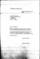 [Letter from B. Sjollema (World Council of Churches, Geneva) to G. B. Nyandoro (African National Council of Zimbabwe), December 2, 1977]