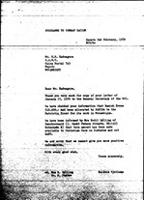 [Letter from B. Sjollema (World Council of Churches, Geneva) to E. R. Kadungure (Zimbabwe African National Union), February 2, 1978]