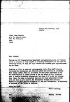 [Letter from B. Sjollema (World Council of Churches, Geneva) to R. Savio (Inter Press Service, Rome), with attachment, February 26, 1979]
