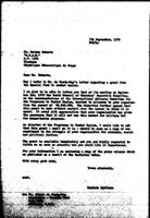 [Letter from B. Sjollema (WCC, Geneva) to R. Holden (GRAE, Kinshasa)]