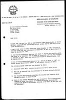 [Letter from R. van Drimmelen (WCC, Geneva) to B. Brown (British Council of Churches, London)]