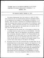 [Statement Issued by the Executive Committee of the Planning Committee of the Church Consultation at Cottesloe, 7-14 December, 1960]