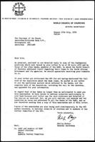 [Letter from P. Potter (WCC, Geneva) toChairmand of the Board Amsterdam-Rotterdam Bank N.V.(Amsterdam), with attachment]