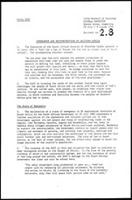 Memorandum and recommendations on Southern Africa