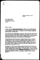 [Letter from B. Sjollema (WCC-PCR, Geneva) to C. Wedel (United States)]