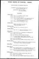 [Christian Council of Mozambique delegation, May 3 - 13, 1976] Agenda
