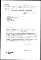 [Letter from B. Sjollema (WCC-PCR, Geneva) to P. Mbatha (Lutuli Memorial Foundation, London)]