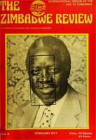 Zimbabwe Review, Vol. 6, No. 2, 1977
